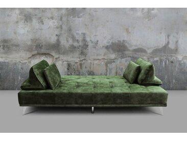 KAWOLA Sofa »WIOLO«, Schlafsofa Daybed versch. Farben, grün, Velvet moosgrün