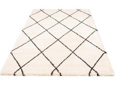 Leonique Hochflor-Teppich »Belle«, rechteckig, Höhe 35 mm, weiche Haptik, natur, creme-schwarz