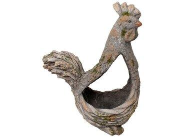 HTI-Line Tierfigur »Pflanzgefäß Borke«, natur, Henne