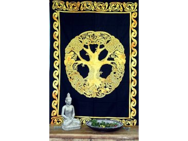 Guru-Shop Tagesdecke »Boho-Style Wandbehang, indische Tagesdecke -..«