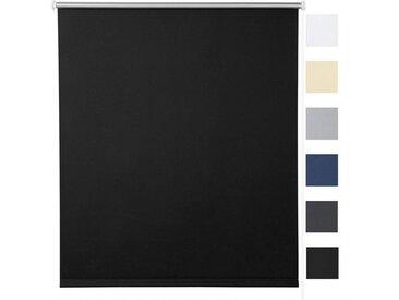 Woltu Verdunklungsrollo, Thermorollo Klemmfix ohne Bohren,Sonnenschutz, schwarz, schwarz