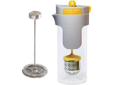 STONELINE Teeglas, Borosilikatglas, 2in1 Kaffeebereiter Teebereiter 0,75 l