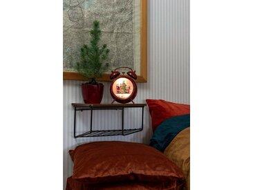 KONSTSMIDE LED Wecker, wassergefüllt, rot, Lichtquelle warm-weiß, Weihnachtsmann und Kind, Rot
