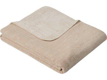 IBENA Wolldecke »Jacquard Decke Rom«, GOTS zertifiziert, natur, sand