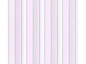 living walls Vliestapete »Little Stars«, glatt, Streifen, gestreift, Kinderzimmertapete für Jungen, PVC-frei, bunt, rosa-weiß