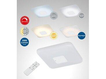 TRANGO LED Deckenleuchte, 3097 Modern 24 Watt LED Deckenlampe *EMY* CCT stufenlos dimmbar & Farbtemperatur wählbar warm- oder kaltweiß inkl. Timer & Nachtlicht-Funktion, mit Kristalleffekt - Sternenhimmel aus Acryl, Schlafzimmer, Wandleuchte, Wohnraum, Gästezimmer, Schlafraum