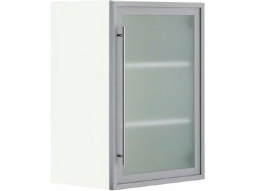 OPTIFIT Glashängeschrank, Breite 50 cm, grau, alu/weiß