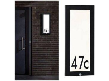 Paulmann LED Außen-Deckenleuchte »Panel Hausnummer 20x60 cm IP44 13W 230V Anthrazit mit Bewegungsmelder«