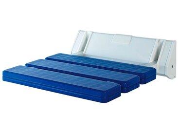 Duschklappsitz Fashion, belastbar bis 150 kg, blau, weiß-blau