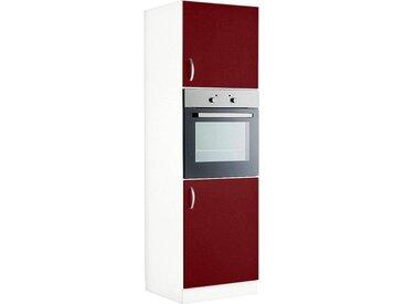 wiho Küchen Backofenumbauschrank »Flexi« Höhe 200 cm, rot, Rot Glanz
