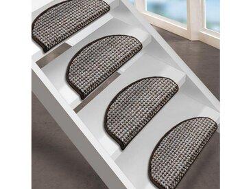 Floordirekt Stufenmatte »Grandeur 1A«, Halbrund, Höhe 9 mm, braun, Braun 69
