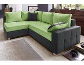 COLLECTION AB Ecksofa, mit Bettfunktion und Federkern, grau, grau-grün - grün