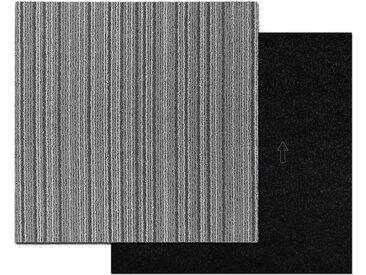 Kubus Teppichfliese »Wien«, Quadratisch, Höhe 3 mm, Selbstliegend, grau, Grau J3