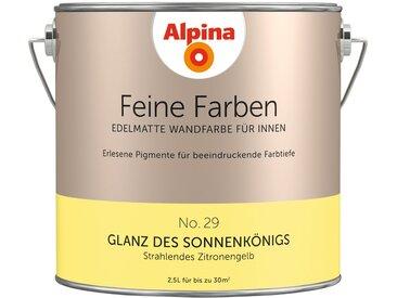 Alpina ALPINA Farbe » Feine Farben Glanz des Sonnenkönigs«, 2,5 l, gelb, Strahlendes Zitronengelb
