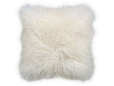 BUTLERS Dekokissen » TASHI Lammfell Kissen 40x40 cm«, weiß, Weiß