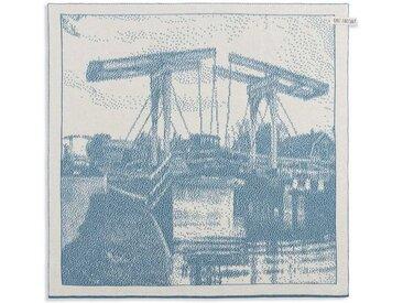 Knit Factory Tischdecke »Küchentuch Brücke Ecru/Ocean«