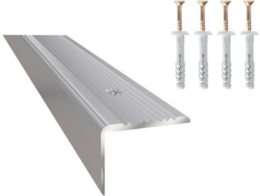 Arbiton Treppenkantenprofil »PS2 Optik Silber« (1-St), matt, 20 mm x 25 mm x 120 cm für Schraubmontage