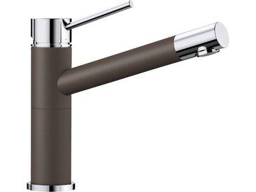 Blanco BLANCO Küchenarmatur »ALTA Compact«, Hochdruck, braun, Strahl nicht umschaltbar, Bedienhebel oben, cafe/chrom x braun/chrom