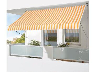 KONIFERA Klemmmarkise »200x150 cm« Breite/Ausfall: 200/150 cm, gelb, gelb-weiß