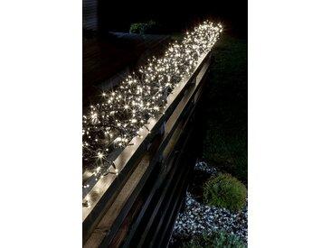 KONSTSMIDE Micro LED Büschellichterkette Cluster mit Multifunktion, schwarz, 768 LEDs, Lichtquelle warm-weiß, Schwarz