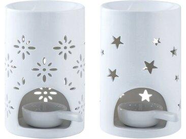 LOVECASA Duftlampe, Sterne und Blumen Muster