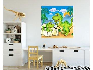 Bilderdepot24 Deco-Panel, Fototapete Dino Kindertapete - Tyrannosaurus Rex, bunt, Farbig