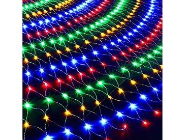 TOPMELON Lichterkette, LED Net Mesh Lichterkette, Wasserdicht, 4 Größen,Weihnachtsdekoration, bunt, 144 St., Mehrfarbig