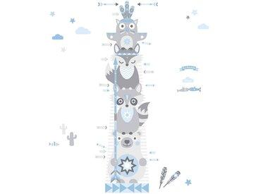 anna wand Wandsticker »Messlatte Little Indians hellblau/grau«