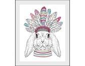 queence Bild »Indiana Bunny«, Hase (1 Stück), bunt