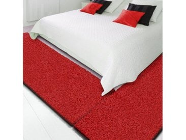 Floordirekt Hochflor-Bettumrandung »Barcelona« , Höhe 22 mm, (3-tlg), Shaggy, rot, Rot