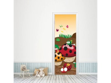 Bilderdepot24 Deco-Panel, Türaufkleber - Kinderbild Krabbeltiere II