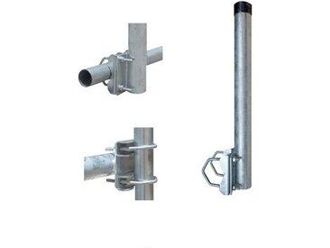 PremiumX »Balkon-Halter 40cm Ø 48mm Stahl Mast Geländer-Halterung für Satelliten-Schüssel SAT-Antenne Satelliten-Anlage Sat-Spiegel Ausleger - auch nutzbar als Mastaufsatz Mast-Verlängerung« SAT-Halterung