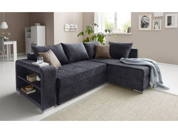 COLLECTION AB Ecksofa, inklusive Bettfunktion und Bettkasten, grau, ohne Federkern, anthrazit