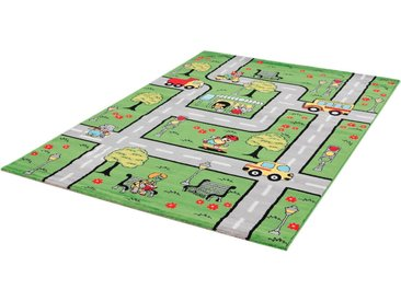 Sanat Kinderteppich »Bambino 2114«, rechteckig, Höhe 12 mm, Kinder Straßen-Spielteppich, Kurzflor