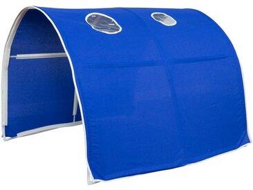 Homestyle4u Betttunnel, Tunnel Zelt Bettzelt Bettdach Spieltunnel, blau, blau