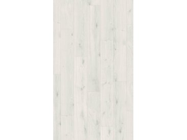 PARADOR Laminat »Basic 400 - Eiche kristallweiß«, Packung, Kantenimprägnierung, 1285 x 194 mm, Stärke: 8 mm