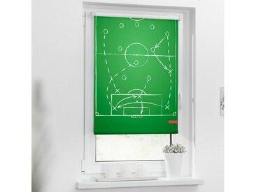 LICHTBLICK ORIGINAL Seitenzugrollo »Rollo Klemmfix, ohne Bohren, Verdunkelung, Spieltaktik - Grün Weiß«, verdunkelnd, freihängend