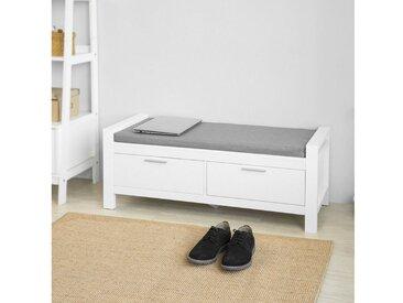 SoBuy Sitzbank »FSR74«, mit Stauraum mit 2 Schubladen Bettbank mit Sitzfläche Garderobenbank Schuhbank Belastbarkeit 120