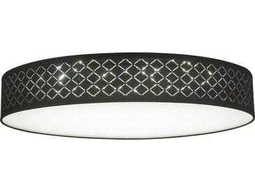 Globo Deckenleuchte »CLARKE«, Höhe Schirm 12cm, Dekorstanzungen, Nachtlicht