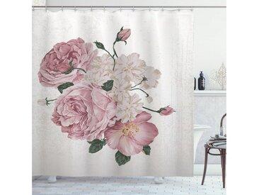 Abakuhaus Duschvorhang »Moderner Digitaldruck mit 12 Haken auf Stoff Wasser Resistent« Breite 175 cm, Höhe 180 cm, Rose Alte Rosen Corsage Grunge