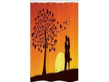 Abakuhaus Duschvorhang »Badezimmer Deko Set aus Stoff mit Haken« Breite 120 cm, Höhe 180 cm, küssen Love Tree Romantisches Paar