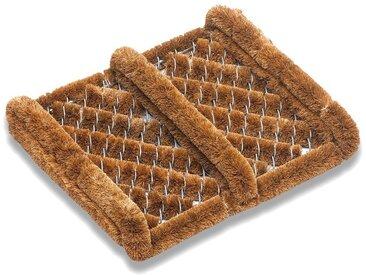 matches21 HOME & HOBBY Fußmatte »Kokos Fußmatten Kokosmatten Drahtgittermatten gestreift 30x36 cm«, rechteckig, Höhe 60 mm