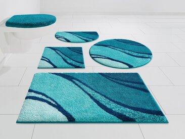 GRUND exklusiv Badematte »Reno« , Höhe 20 mm, rutschhemmend beschichtet, fußbodenheizungsgeeignet, blau, türkis