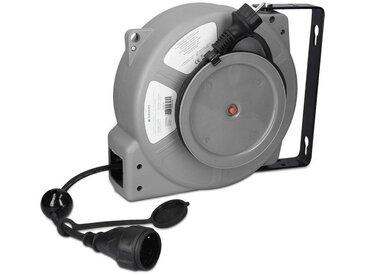 Navaris Kabeltrommel, Automatik Kabel Trommel 15m mit Einzug - Schutzklasse IP44 Kabeltyp H05RR-F 3G1
