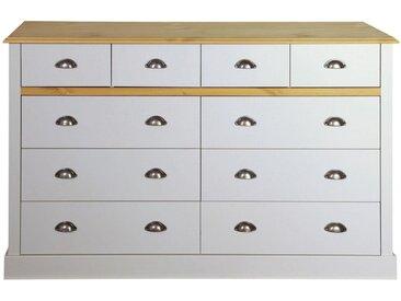 Home affaire Kommode »Sandringham«, mit 10 Schubladen, Breite 144 cm, grau, grau
