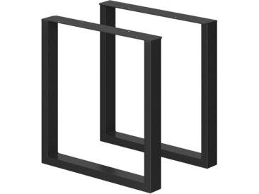 Vicco Tischbein »Tischbeine Loft Tischkufen pulverbeschichtet 2er Set 72x70 cm«