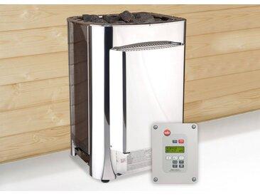 weka WEKA Set: Bio-Kombiofen »BioS«, 11 kW, externe Steuerung, inkl. Zubehör, silberfarben, silberfarben