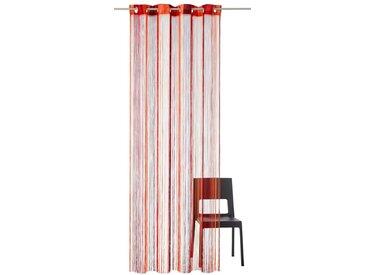 my home Fadenvorhang »Fao«, Ösen (1 Stück), rot, rot-orange