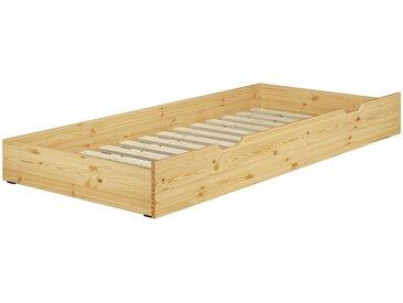 ERST-HOLZ Unterbettkommode, 90.10-S6 - Gästebettkasten Kiefer naturLiegefläche 90x190 cm-Rollrost