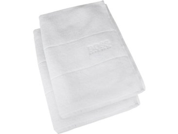 Hugo Boss Home Gästehandtuch »PLAIN 2-tlg.« (2-St), 40 x 60 cm, weiß, weiß